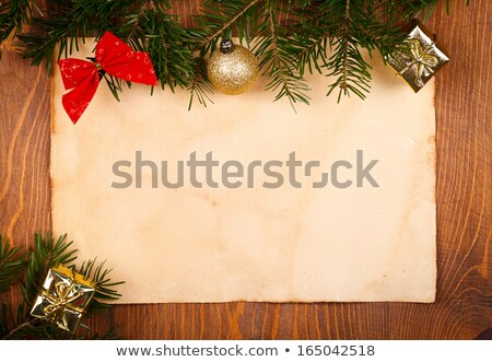 Rustic paper with branch around Stock photo © kalozzolak