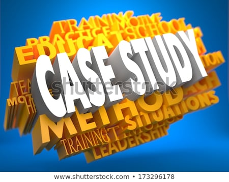 case study on yellow wordcloud stock photo © tashatuvango