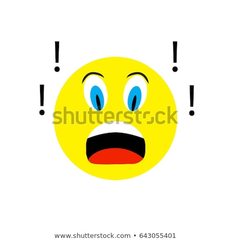 Emoticon terrified Stock photo © carbouval