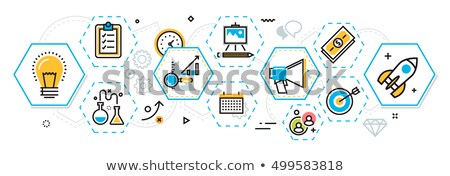 idea plan success in hexagons flat design stock photo © marinini