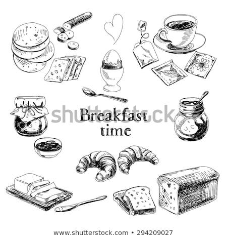 Klasszikus csésze tojások lila húsvéti tojás 1960-as évek Stock fotó © songbird