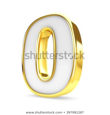 Сток-фото: числа · нулевой · изолированный · белый · алфавит