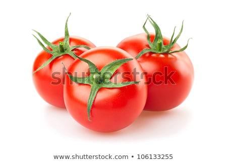 Três tomates legumes isolado branco Foto stock © natika