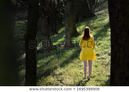 Fiatal vörös hajú nő lány szoros macskanadrág nő Stock fotó © Elnur