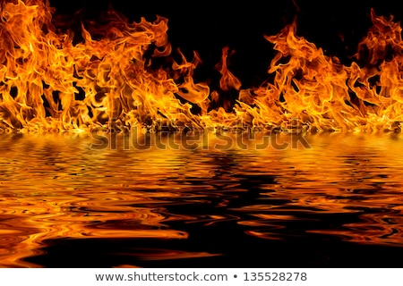 Fire flames reflected in water Stock photo © Nejron