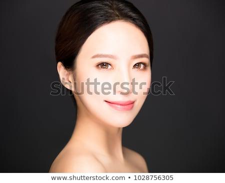 Foto stock: Primer · plano · hermosa · ojo · maquillaje · cara