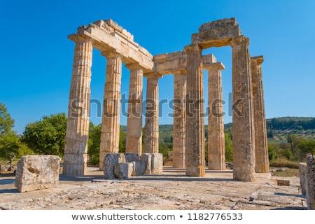 Régészeti helyszín Görögország romok fa építkezés Stock fotó © ankarb