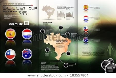 Brazylia piłka nożna mistrzostwo 2014 grupy flagi Zdjęcia stock © cienpies