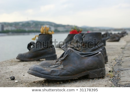 Shoes on the Danube, a monument to Hungarian Jews shot in the se Stock photo © bloodua