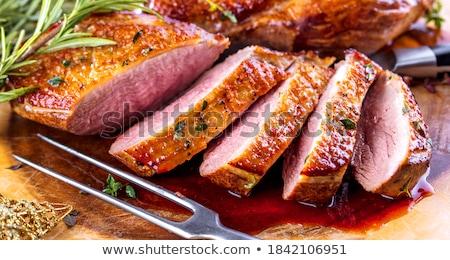 grillés · canard · sein · oiseau · dîner · déjeuner - photo stock © m-studio