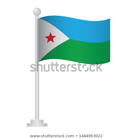 Djibouti Small Flag on a Map Background. Stock photo © tashatuvango