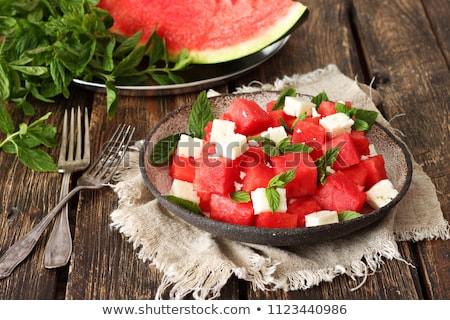 Salade pastèque menthe alimentaire fruits Photo stock © M-studio