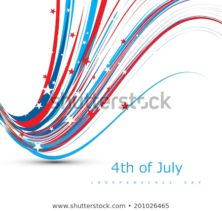 4th july beautiful american independence day flag wire wave vect stock photo © bharat