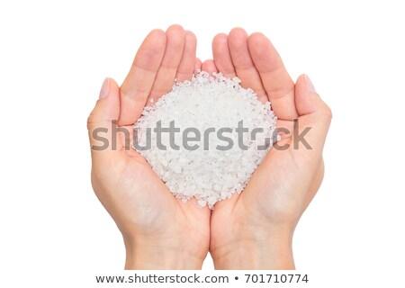 Sal do mar madeira colher branco beleza estância termal Foto stock © hin255