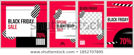cyber monday on red puzzle stock photo © tashatuvango