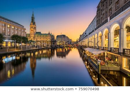 Hamburgo vista ciudad urbanas lago río Foto stock © oorka