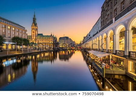 Amburgo view città urbana lago fiume Foto d'archivio © oorka