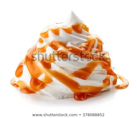Foto stock: Creme · caramelo · ovo · fundo · leite · sobremesa