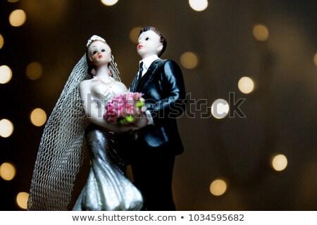 結婚式 カップル ケーキ 食品 愛 ストックフォト © mikhail_ulyannik