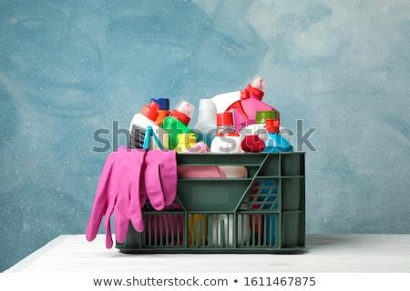 моющее средство бутылок ковша пластиковых перчатки Сток-фото © Antonio-S
