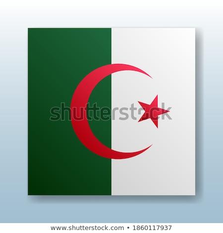 Botão símbolo Argélia bandeira mapa branco Foto stock © mayboro1964