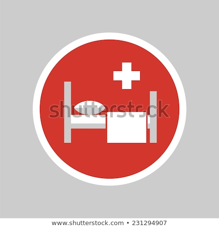 Heath Care Bed Red Vector Icon Button Stock photo © rizwanali3d