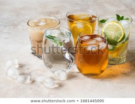juice with soda on white stock photo © ozaiachin