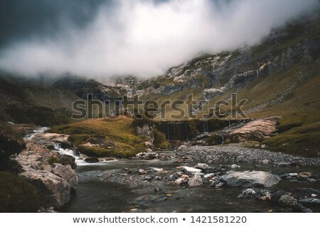 landscape with storm clouds and river stock photo © mikko