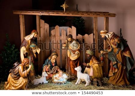 Karácsony béke kép illusztráció jelenet kártya Stock fotó © Irisangel