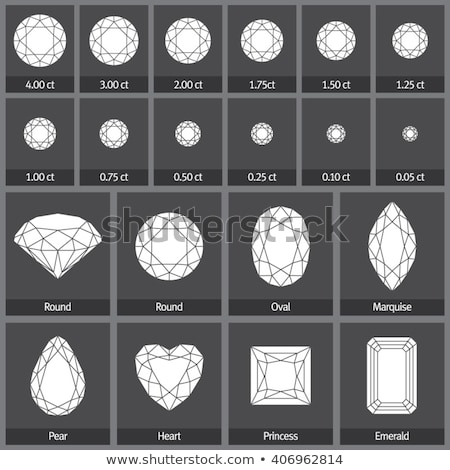 set of precious stones of different cuts and shapes stock photo © yurkina