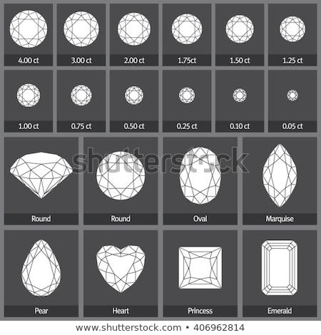 Set prezioso pietre diverso forme illustrazione Foto d'archivio © yurkina