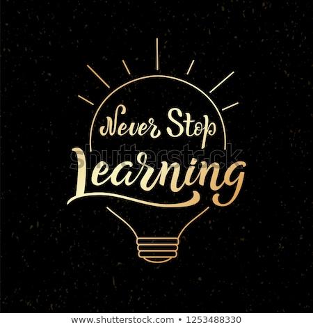 Imagem nunca pare aprendizagem pequeno Foto stock © wavebreak_media