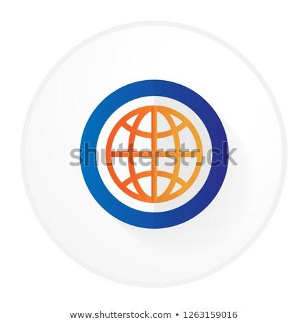SEO Internet Sign Orange Vector Button Icon Design Set 10 Stock photo © rizwanali3d
