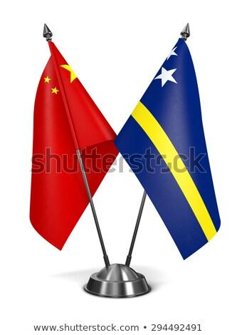 Chiny miniatura flagi odizolowany biały tle Zdjęcia stock © tashatuvango