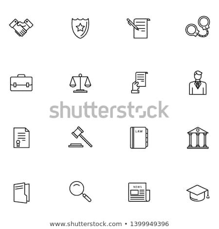 Law Sign Black Vector Button Icon Design Set Stock photo © rizwanali3d