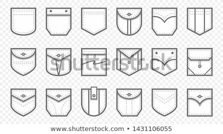 Foto stock: Bolsillo · jeans · camisa · piezas · de · ajedrez · fondo · ajedrez