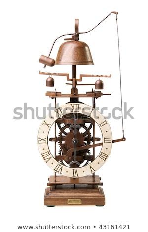 Foto stock: Antigo · olhando · relógio · discar · tempo