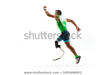 Homme prothèse illustration sport coucher du soleil fitness Photo stock © adrenalina