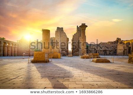 Luxor · Egyiptom · templom · kék · utazás · kő - stock fotó © mikko
