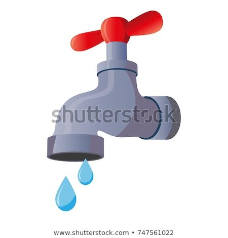 Argent métallique robinet d'eau grue modernes Photo stock © ozaiachin