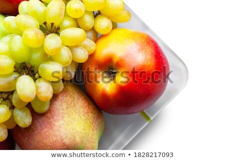 alma · kék · asztal · izolált · narancs · kép - stock fotó © tetkoren
