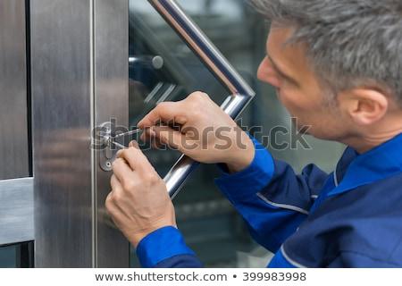 Deur behandelen home afbeelding hand Stockfoto © AndreyPopov