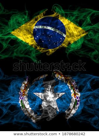 Brazília északi szigetek zászlók puzzle izolált Stock fotó © Istanbul2009