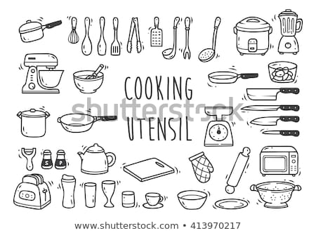 doodle vector kitchen stock photo © netkov1