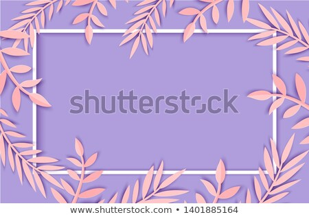Palm leaf silhouettes frame. Tropical leaves. Vector illustration Stock photo © gladiolus