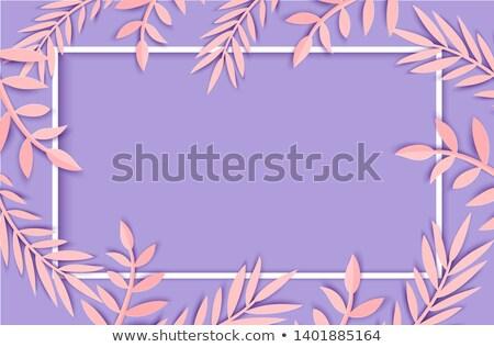 Feuille de palmier silhouettes cadre tropicales laisse arbre Photo stock © gladiolus