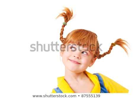 Cute little girl with hair braids at school Stock photo © zurijeta
