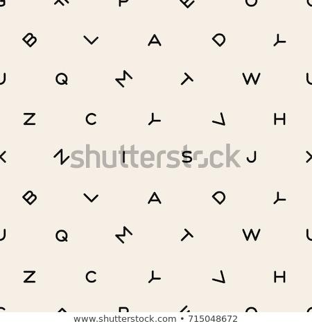 вектора · бесшовный · аннотация · алфавит · шаблон · бумаги - Сток-фото © absenta