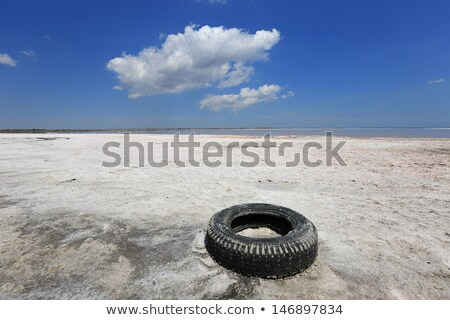Velho pneu praia resistiu porto Melbourne Foto stock © Vividrange