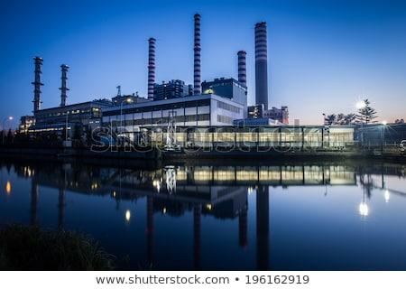 Gyár épületek magas víz háttér művészet Stock fotó © bluering